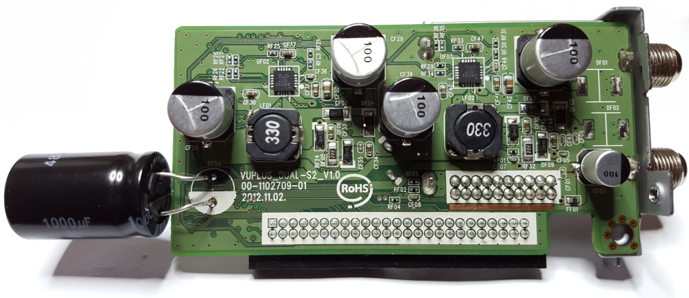 Rebuilt and Polymer Capacitor Upgraded Vu+ Duo 2 Dual Input S2 HD Satellite Tuner Module